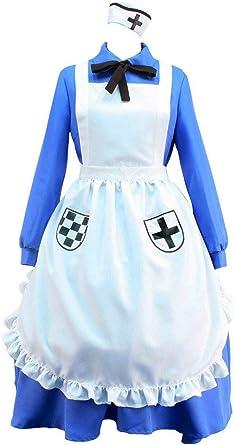 APH Axis Powers Hetalia Nyotalia England//UK Women Cosplay Costume