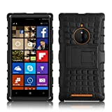 Lumia 830 Case - ALLIGATOR Heavy Duty Rugged Back Cover for Nokia Lumia 830, Black