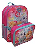 Paw Patrol Girls Skye and Everest 16' Backpack With Detachable Matching Lunch Box