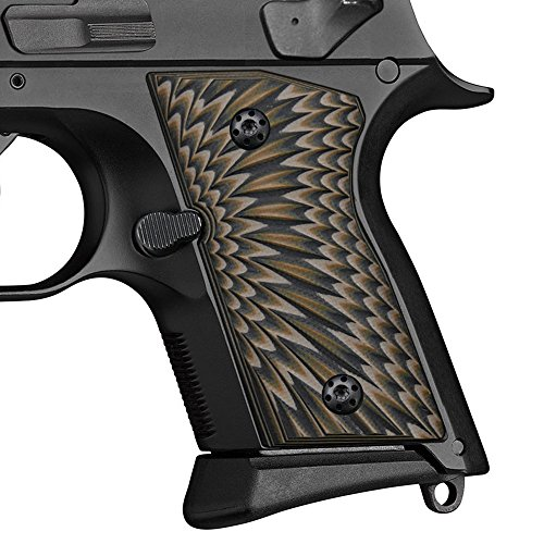 Cool Hand G10 Grips for CZ 2075 RAMI, Sunburst Texture, Coyote Color