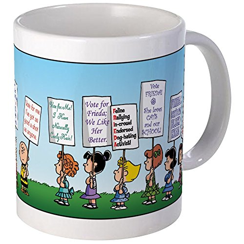 CafePress Peanuts Politics Mug Unique Coffee Mug, Coffee Cup