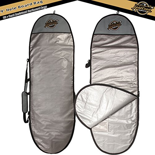 Gold Coast Surfboards - 9' HELE Surfboard Day Bag - UV & Heat Resistant Soft Top Foam Surfboard, Longboard, & SUP Board Bags (Heat Longboard)