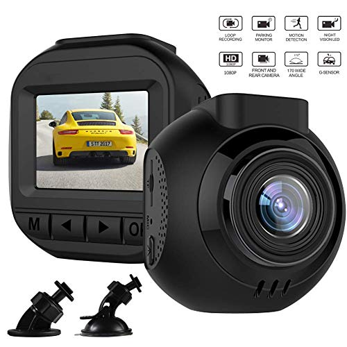 Dash Camera for Cars Small Single Len Dash Cams Sharper Image Dashboard Camera for Trucks Vehicles Driving Camera Dash Recorder