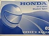 2001 Honda VT1100 Owners Manual VT 1100 C Shadow Spirit
