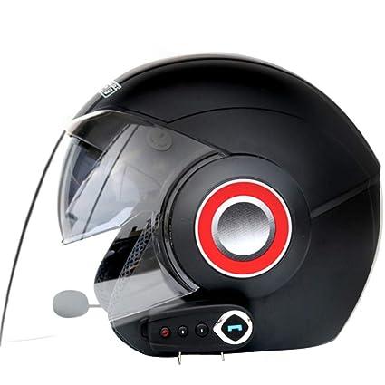 YSHCasco De La Motocicleta Eléctrica Casco De Los Hombres Y Las Mujeres Casco De Seguridad Bluetooth