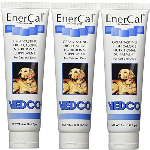 EnerCal High Calorie Nutrition Suppliment For Cats and Dogs 5oz Tube (3 Pack) by EnerCal
