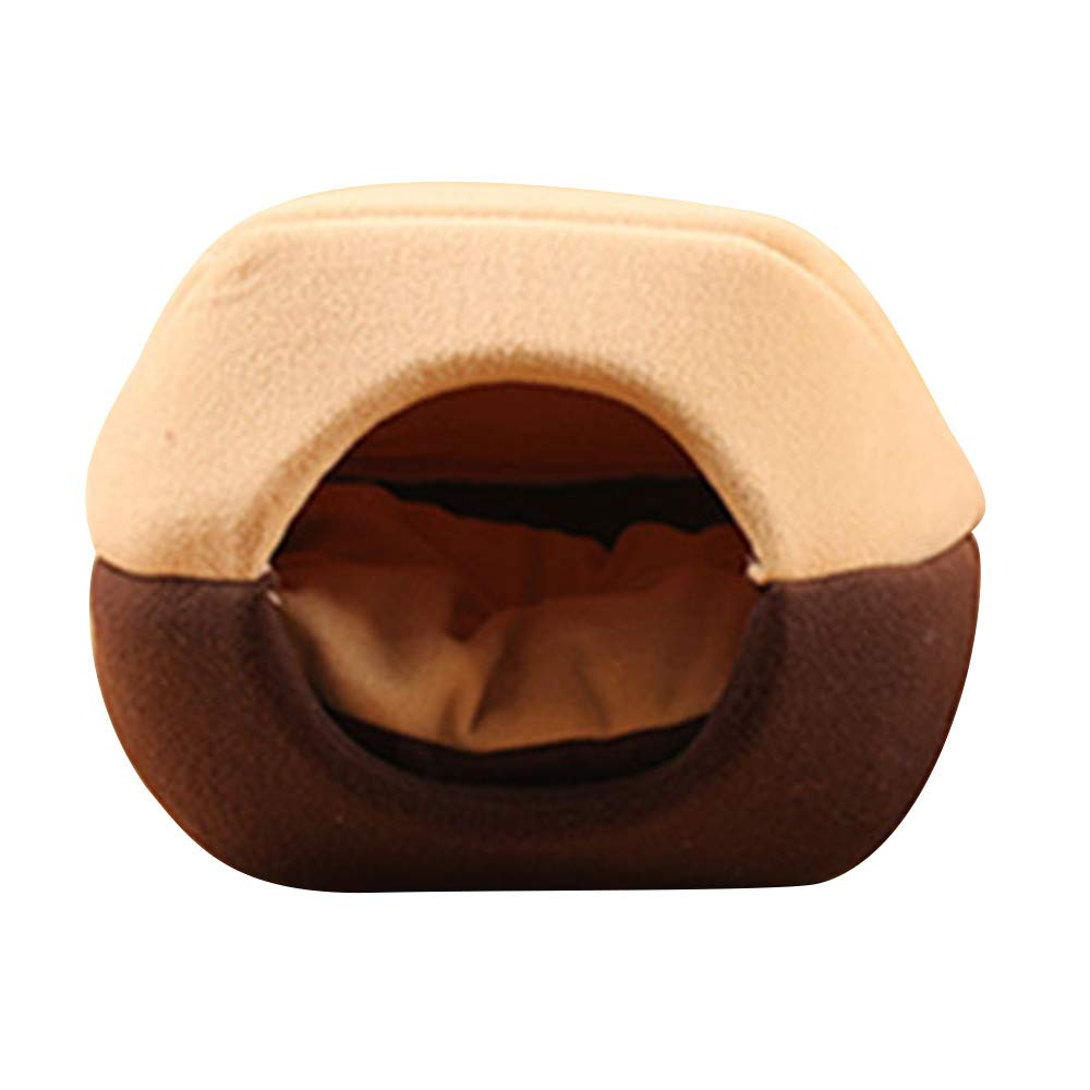 Durable Pet Supplies,Unique 2-in-1 Cat Condo Cat Cube Cave, Bowl-Shaped Thick Organic Cotton Plush Pet House Bed for Mini Dog,Puppy, Rabbit,Cat,Kitten PinnacleT1