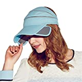 Kenmont Anti-UV Protection Mesh Baseball Cap Topless Visor Sun Hat Performance Running/Golf Cap (Ocean Blue)