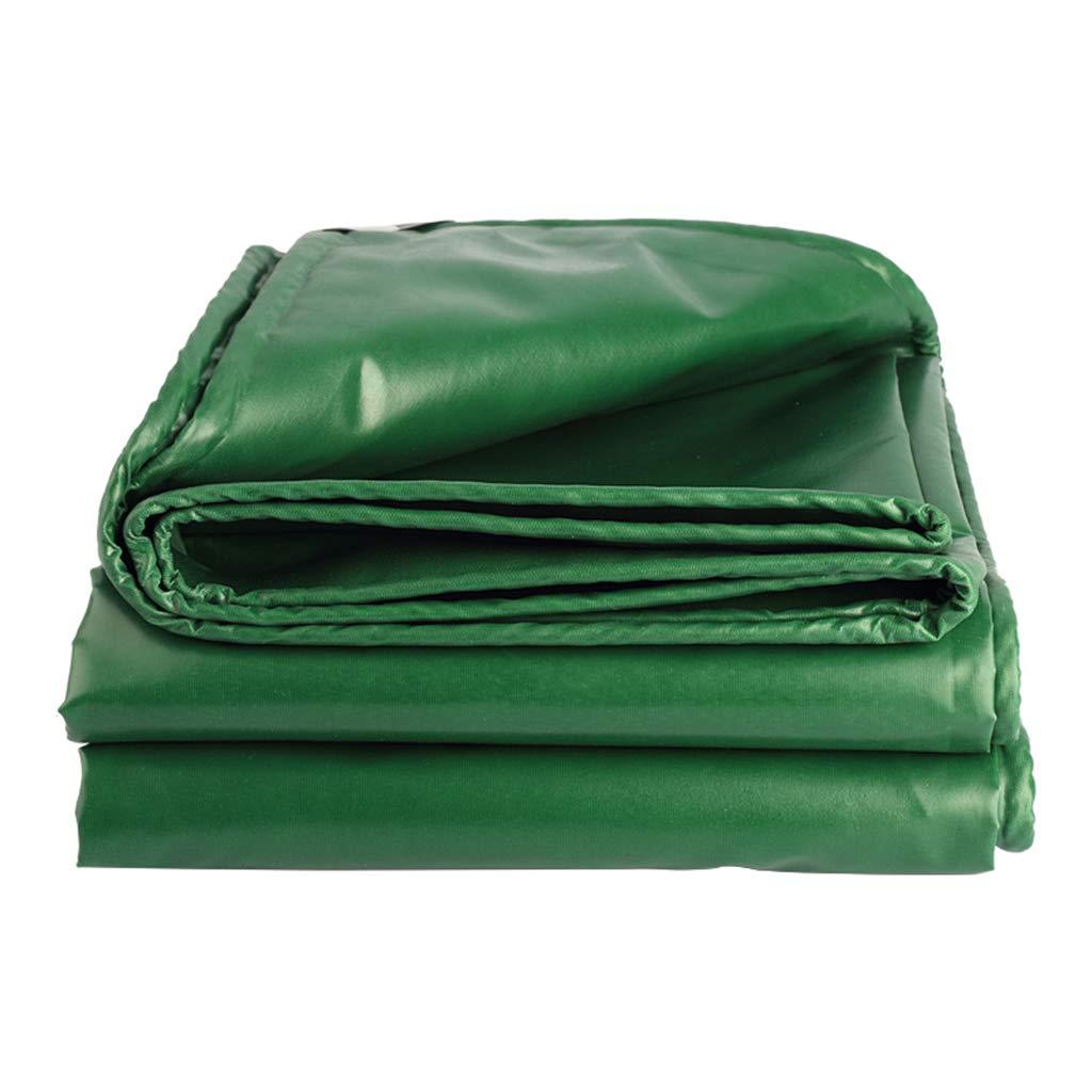 Home warehouse Grünes Rindfleischrippentuch im Freien Camping Zu Fuß Zeltzubehör Verdicken Bedecken des Regens Regenfestes Tuch Wasserdichte Sonnencreme-Plane Dampf-LKW Baldachin-Tuch 0,4 mm-Plane