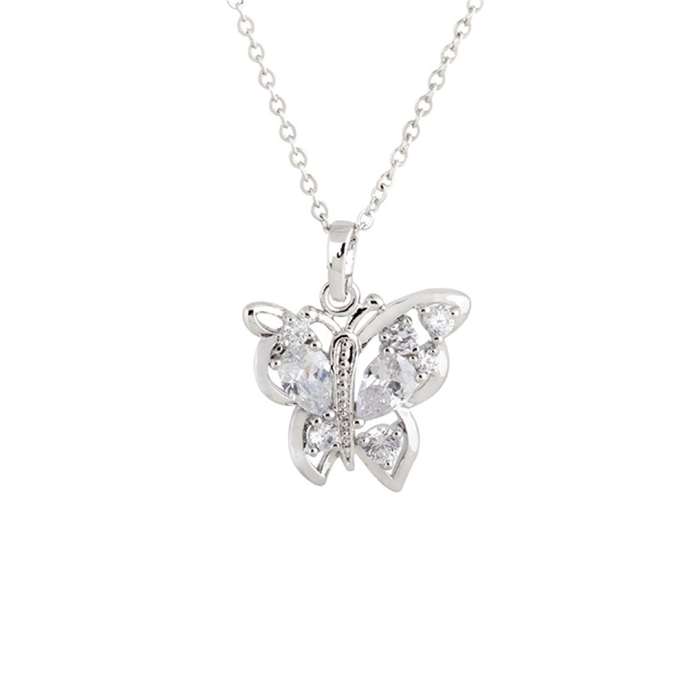 Las mujeres elegante collar de mariposa K del metal de la joyería