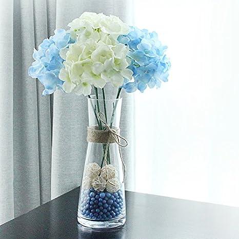 Hctina Falsas Flores Artificial Planta Botellas de vidrio ...