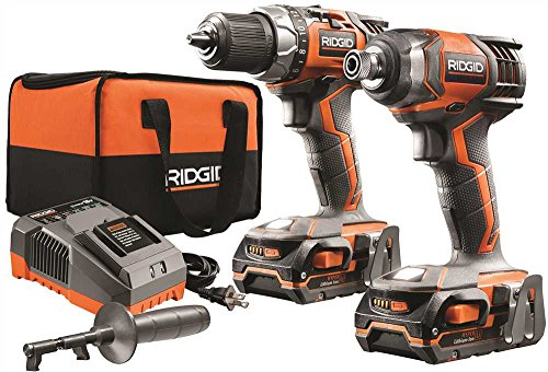 Rigid Power Tools (RIDGID TOOL COMPANY GIDDS2-3554587 18V Drill And Impact Driver Kit)