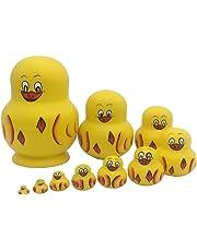 Baosity Cartoon Ducks Russian Nesting Doll Babushka Matryoshka Stacking Dolls 10PCS