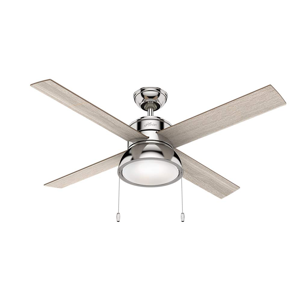 Hunter Fan Company 54153 Hunter 52' Loki Polished Nickel LED Light Ceiling Fan