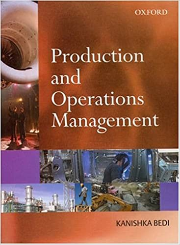 Production And Operation Management Book