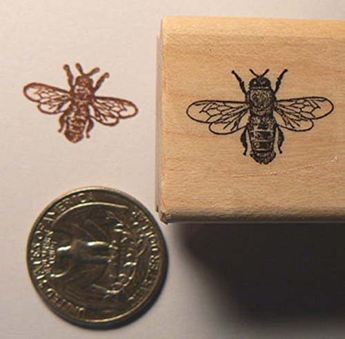 Small Bee rubber stamp WM P22