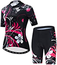 Weimostar Women's Cycling Jersey Short Sleeve with Padded Shorts Quick-Dry Shirts Bike Clothes