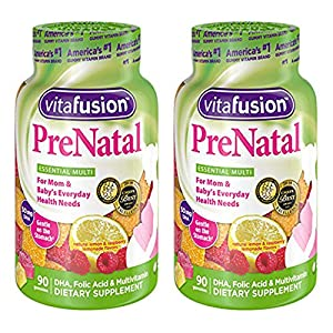 Vitafusion Prenatal, Gummy Vitamins, 90 Count (Packaging May Vary)…