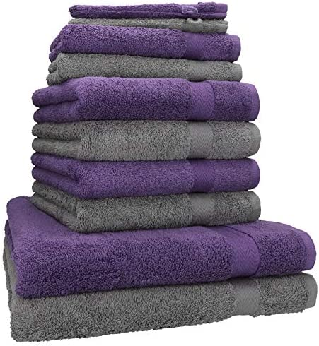Betz Juego de 10 Toallas Premium 100% algodón 2 Toallas de baño 4 ...