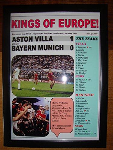 Aston Villa 1 Bayern Munich 0 - 1982 European Cup final - framed print
