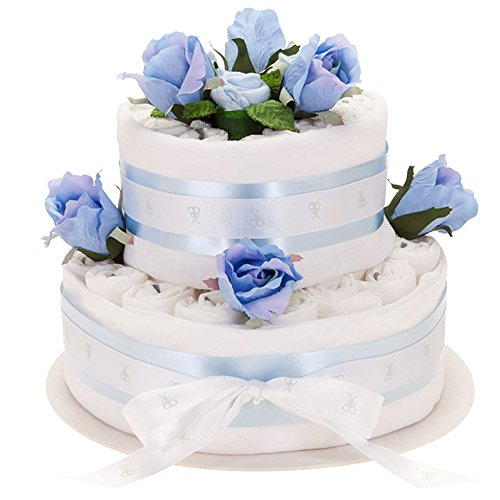 Two Tier Diaper Cake- Blue ()