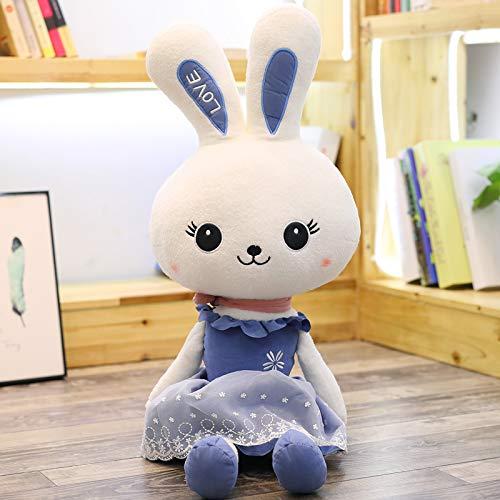 Blau 1.1 m AYQX Plüschtier Prinzessin Kaninchen Puppe niedlichen Kaninchen niedlichen Kaninchen Ragdoll schönheit Kaninchen Puppe Kind weiblich Geburtstagsgeschenk 1,1 Meter blau