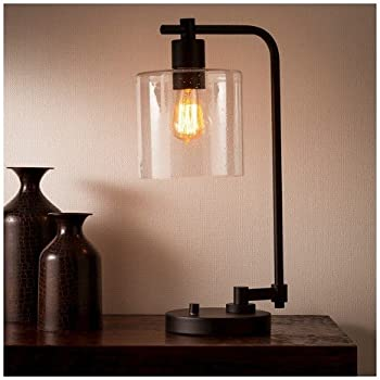 Hudson Industrial Table Lamp   Ebony   Threshold