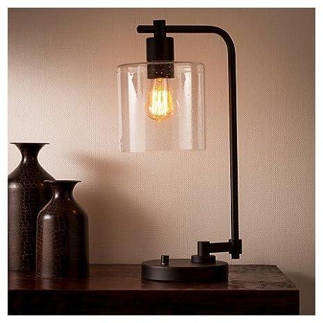 Hudson Industrial Table Lamp   Ebony   Threshold