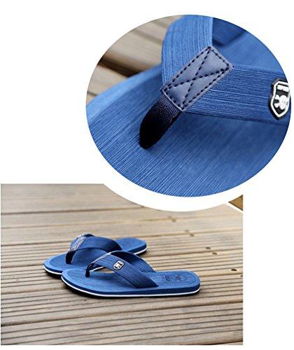 KISS GOLD(TM) Chancletas de Arena Zapatillas Playa Cráneo Hombre Modelo A-Azul