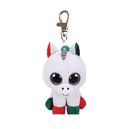 00ff0837575 Amazon.com  Ty Beanie Babies 35218 Boos Candy Cane The Christmas Unicorn Boo  Key Clip  Toys   Games