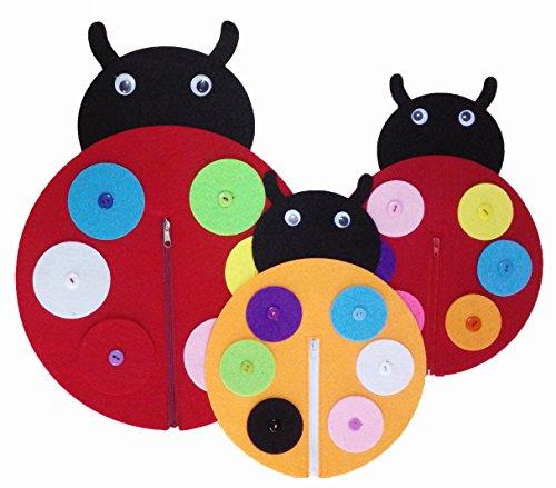 Yoovi Early Learning Basic Life Skills Learn to Dress Ladybug Family