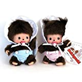 "Bebichhichi: Original Sekiguchi 5"" Baby Girl and Boy Monchhichi Doll Set of 2pcs"