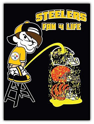 Pittsburgh Steelers NFL Fan Car Bumper Sticker Decal 4'' X 5''