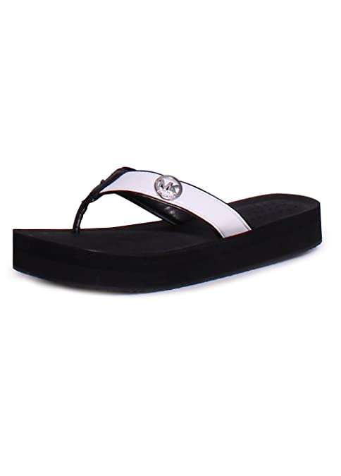 0258116e8 Michael Kors MK Gage Flip Flop 9 Black  Amazon.ca  Shoes   Handbags