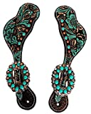 ProRider Western Horse Riding Cowboy Cowgirl Boots Leather Spur Straps Tack 74M80222