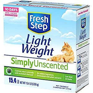 Fresh Step Unscented Lightweight Litter, Clumping Cat Litter