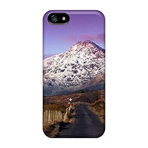 Iphone 5/5s Case Cover - Slim Fit Tpu Protector Shock Absorbent Case (wonderful Mountains Panarama)