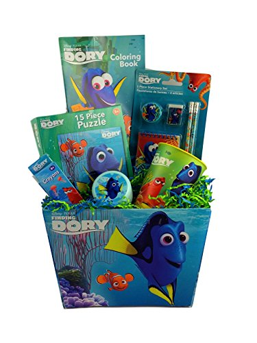 Finding Dory Gift Basket Box for Boys and Girls for Travel, Birthday, Get Well, Just Because