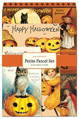 Cavallini Papers Petite Parcel Set Halloween, 12 Gift -