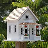 Home Bazaar Newburyport Cottage Birdhouse, White