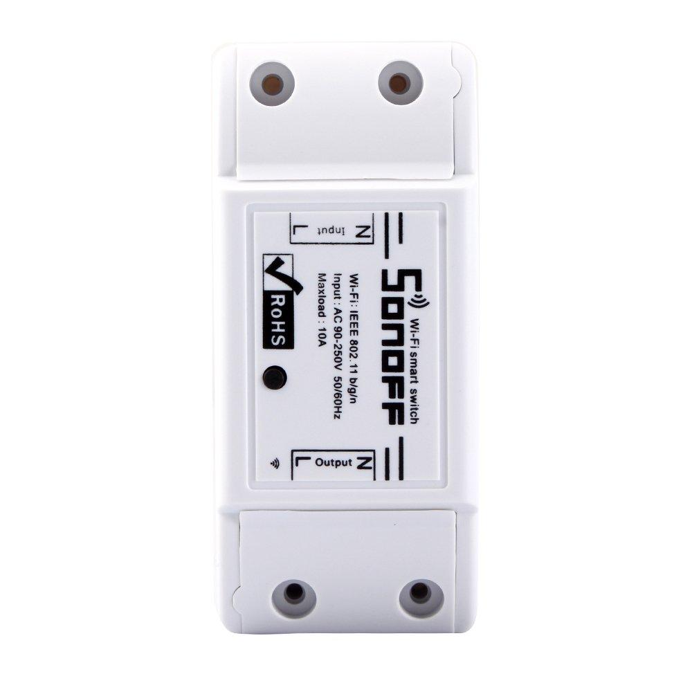 Docooler SONOFF 10A Bricolaje Inteligente WiFi General Modificación de Control Remoto de Potencia Cierre con Smart APP: Amazon.es: Electrónica