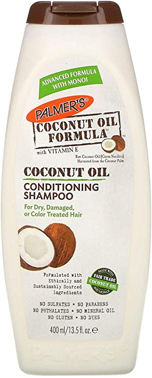 Palmer's Coconut Oil Formula Conditioning Shampoo for Dry, Damaged or Color Treated Hair, 13.5 Ounces (Pack of 2)