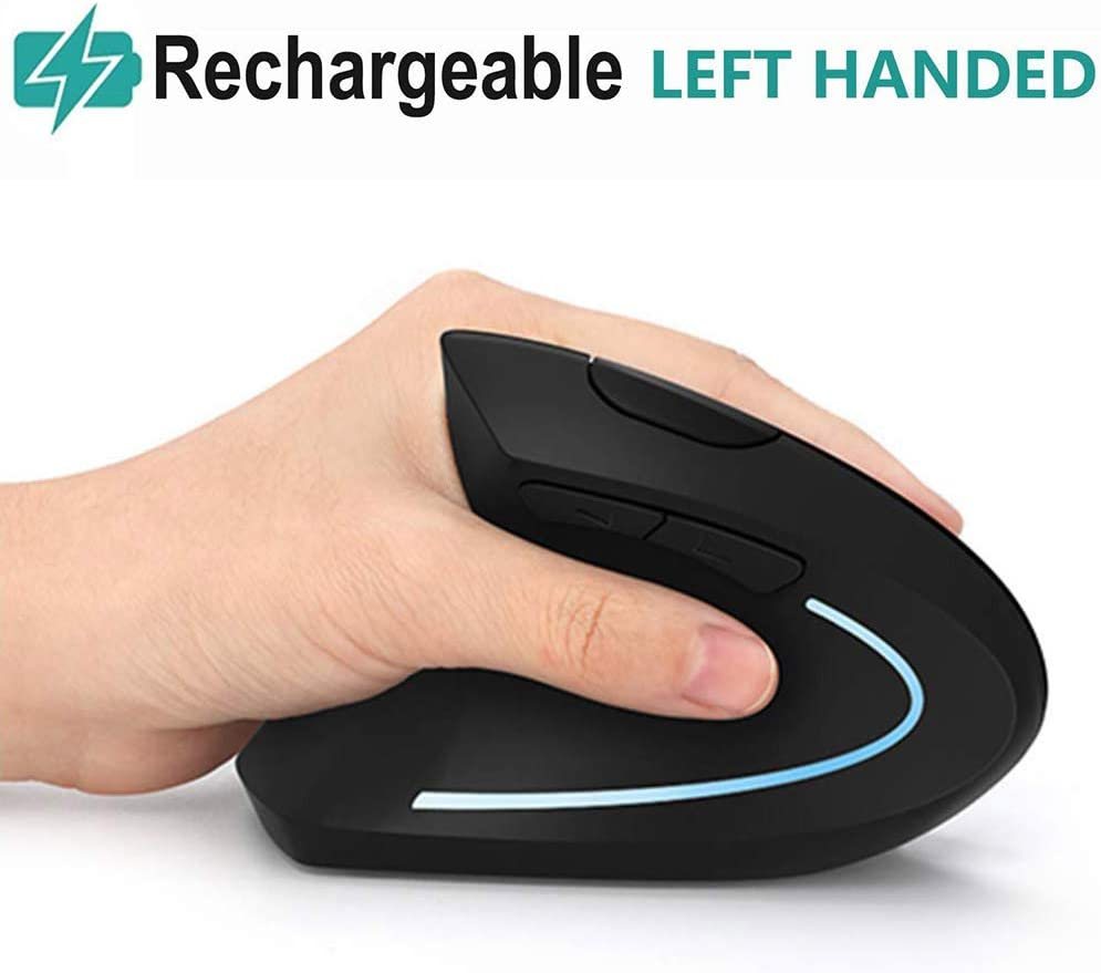 Acedada Rechargeable 2.4G Left Hand Vertical Mice, 6 Buttons