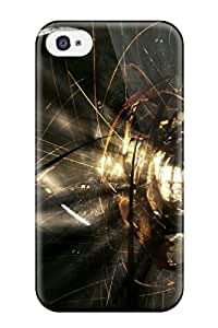 New Premium Flip Case Cover Artistic Abstract Skin Case For Iphone 4/4s