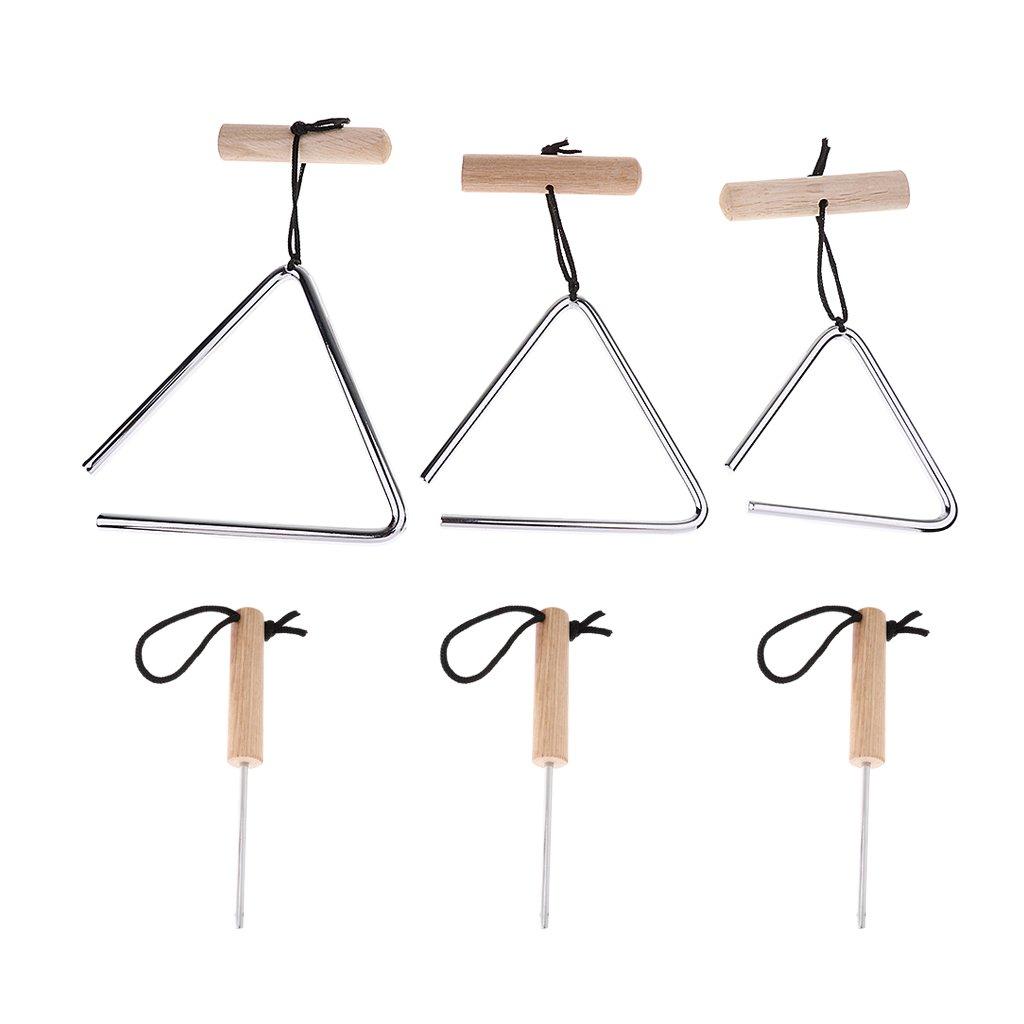 Homyl Triangle Musique Avec Bton Enfants Instrument Jouets /Éducatifs Pr/éscolaires Enfants 4