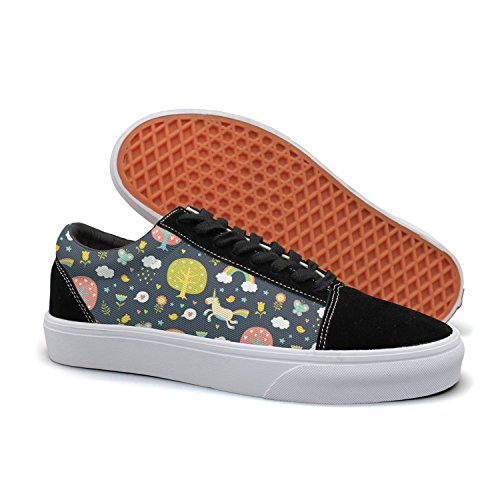 d24e8ae874 hjkggd fgfds fgfds fgfds Casual Lovely Unicorn Run in The Forest Womens Low  Top Sneakers Skate
