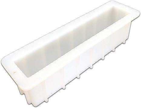 BAKER DEPOT 500ML Molde de silicona para el molde de jab/ón hecho a mano Molde del molde del pan del molde de la tostada sistema de 2