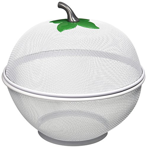 Uniware Apple Net Fruit Basket with plastic Coating, 10.5 Inch, Silver