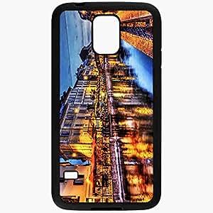 Unique Design Fashion Protective Back Cover For Samsung Galaxy S5 Case Bridge River Cafes Light Architecture Landscape Hdr Black