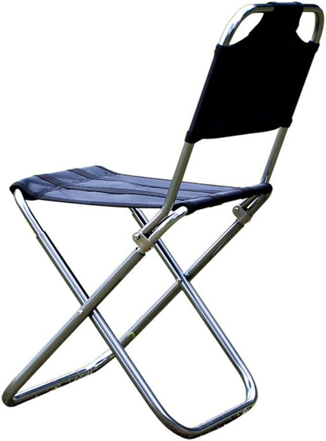 Camping Folding Chair Aviation Aluminum Back Fishing Stool Leoie Outdoor Folding Chairs